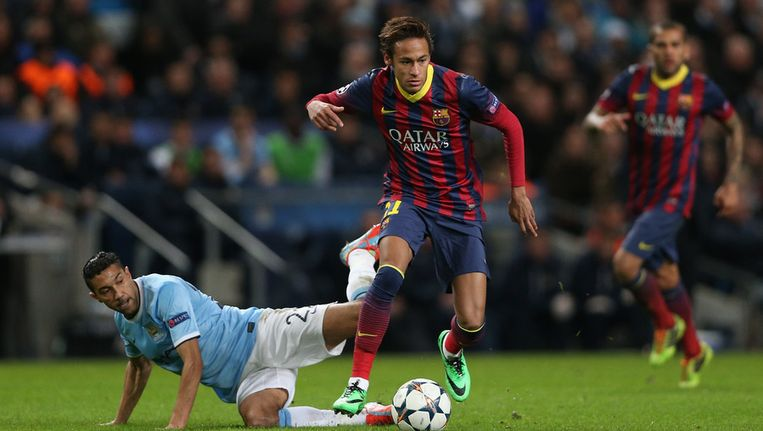 Neymar in actie. Beeld getty