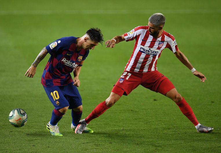 Messi met Carrasco.