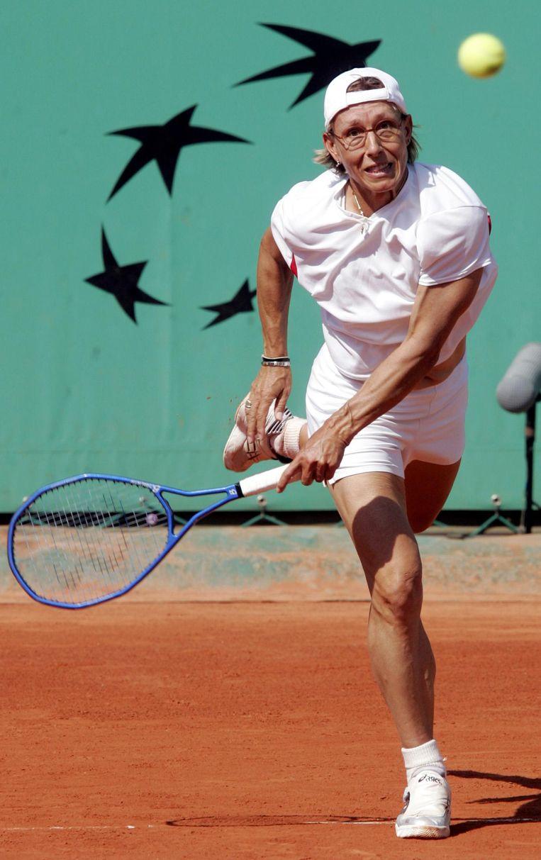 Martina Navratilova is nog altijd een rolmodel voor homoseksuele tennissers. Beeld reuters