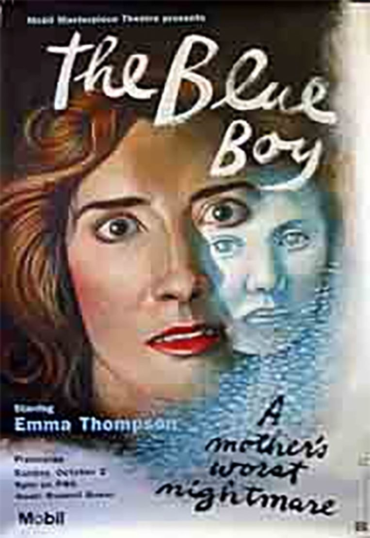 De poster van tv-film 'The Blue Boy', met Emma Thompson in de hoofdrol.