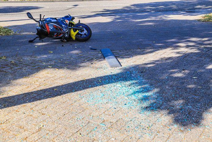Scooterrijder gewond bij ongeluk in Helmond.