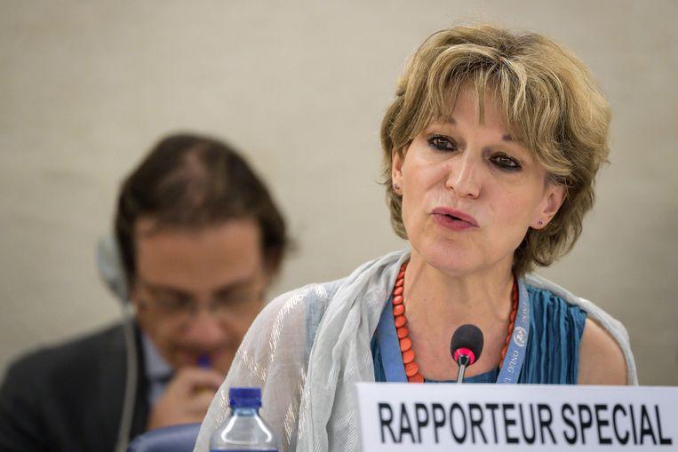 VN-rapporteur Agnes Callamard vindt het onbegrijpelijk dat Máxima de moord op Khashoggi niet aan de orde heeft gebracht in haar gesprek met de Saoedische prins. Beeld AFP