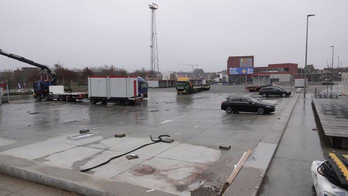 De laatste containers, kabels en hekkens werden vandaag nog opgeruimd.
