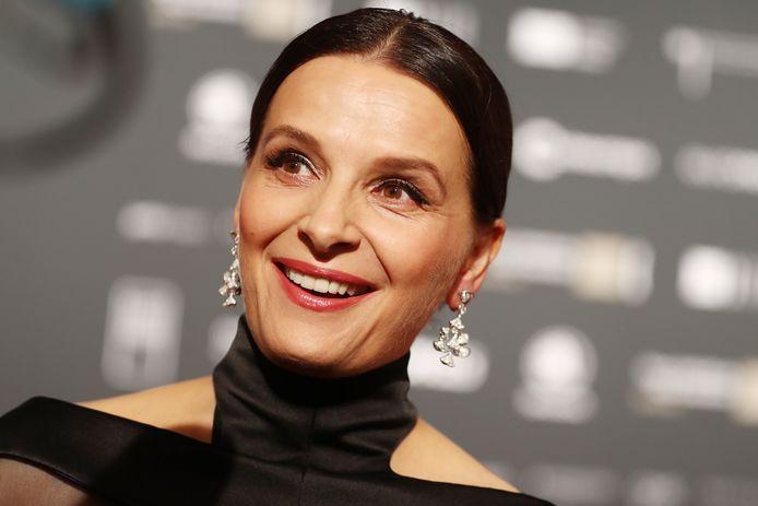 De Franse actrice Juliette Binoche op de rode loper.