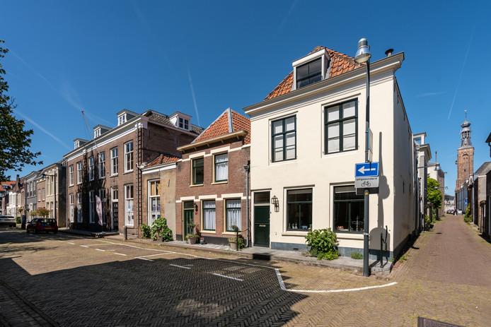 Een stukje van de Ruiterstraat in Zaltbommel.