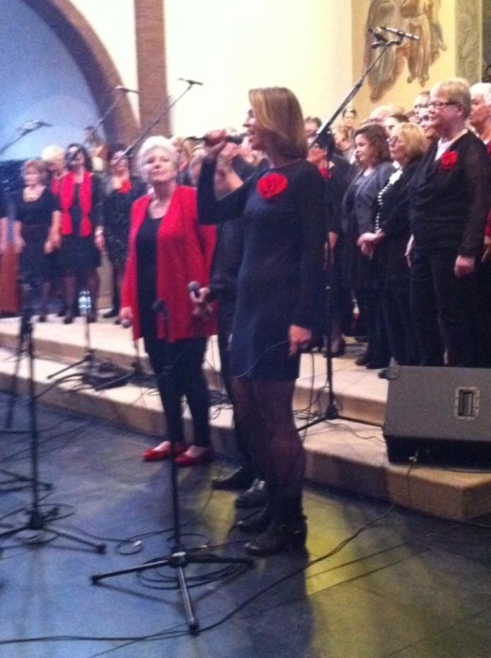Optreden van het koor Eljakim in Zaltbommel.