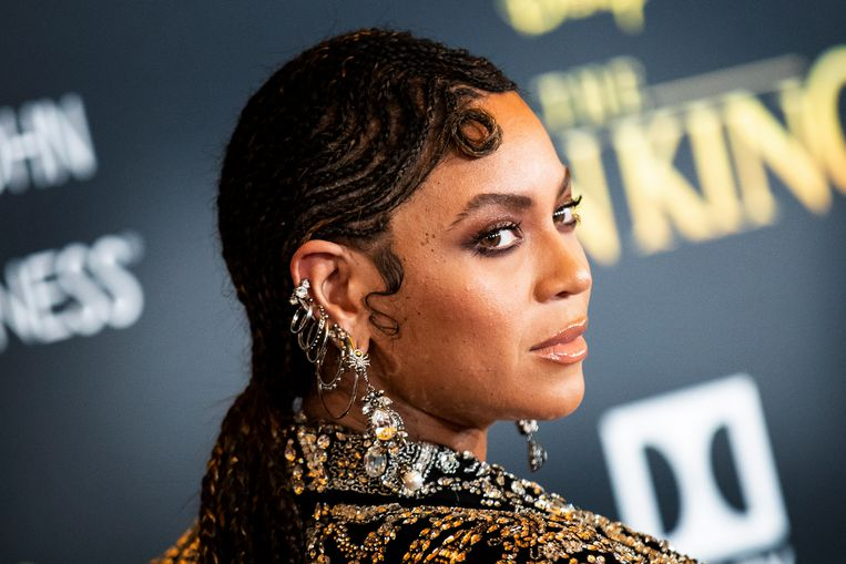 Beyonce op de wereldpremière van 'The Lion King'