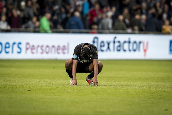 Dries Saddiki baalt na de nederlaag bij De Graafschap.