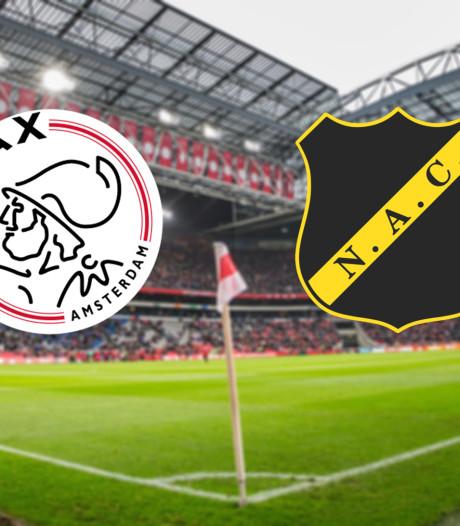 LIVE | Ajax ook tegen NAC met Tadic in de spits