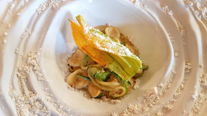 Prijswinnaar: pasta met courgette en geitenkaas.