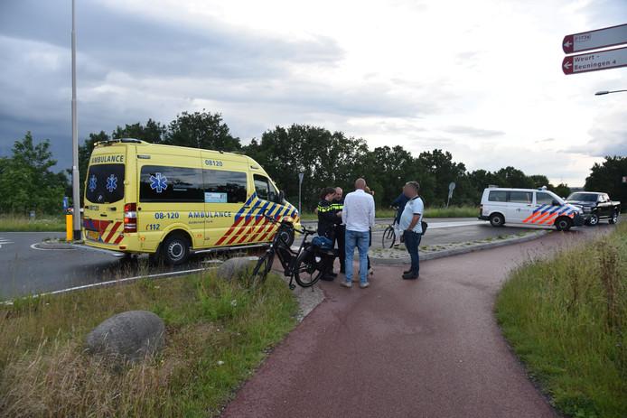 De ambulance heeft de vrouw meegenomen naar het ziekenhuis