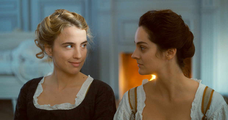 Adèle Haenel (links) als de toekomstige bruid Héloïse en Noémie Merlant als schilder Marianne.