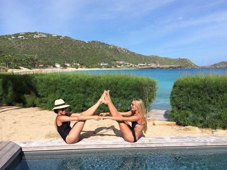 Meghan Markle en Heather Dorak op vakantie.