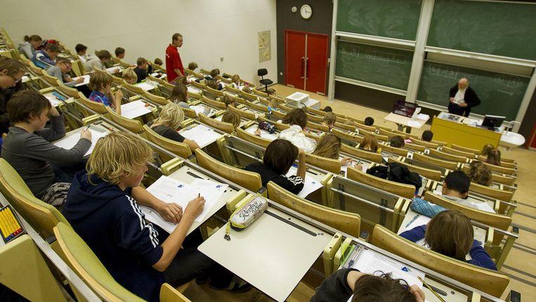 Een hoorcollegezaal van de UvA, vanaf nu ook online toegankelijk Beeld ANP
