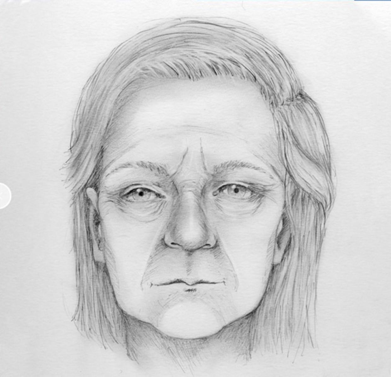 Post mortem-tekening van de vrouw die in juni werd gevonden in het Zeeuwse Westdorpe.