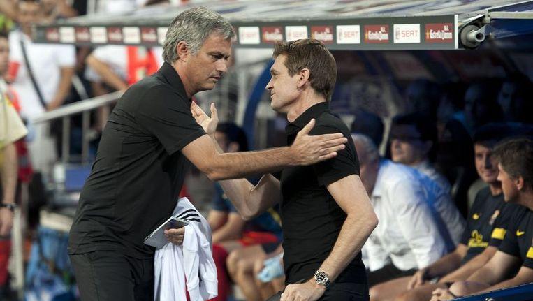 Mourinho en Vilanova hielden het opvallend sereen vanavond
