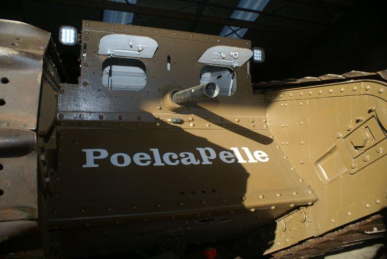De Mark IV van Poelkapelle, de trots van het tankteam.