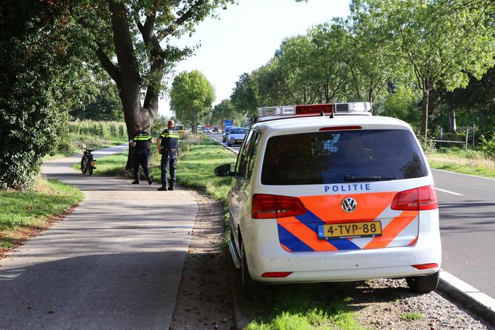 Ongeluk tussen fietser en brommer in Sint-Oedenrode