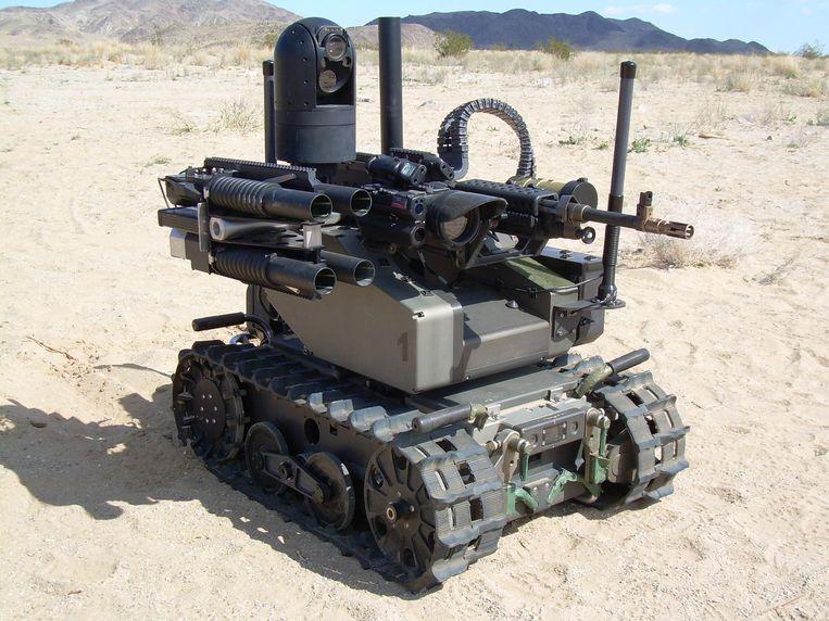 De Modular Advanced Armed Robotic System (MAARS). Beeld