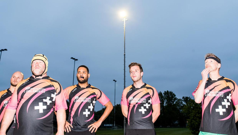 De rugbyers van de Amsterdam Lowlanders