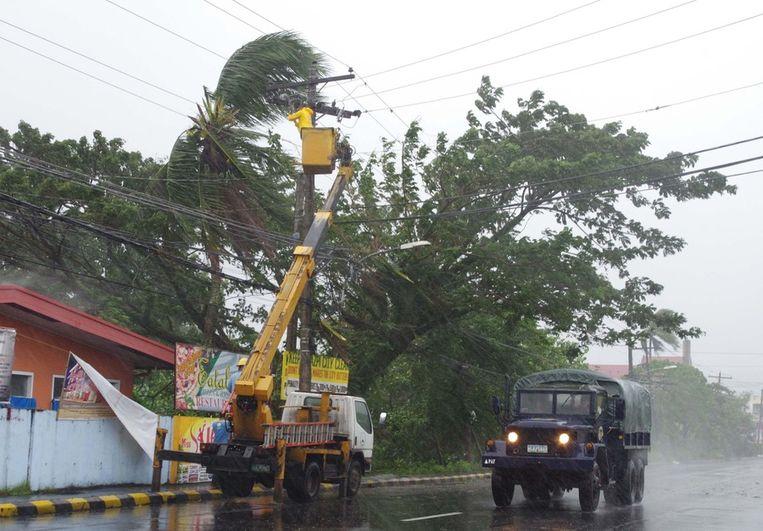 Legazpi, de hoofdstad van de Filipijnse provincie Albay op Luzon. Beeld ap