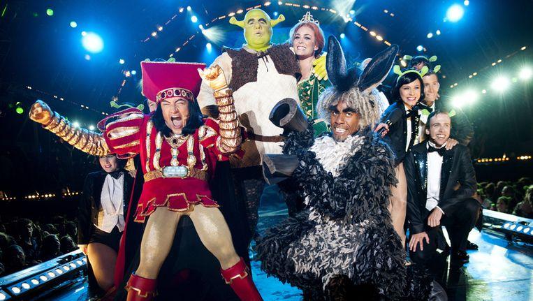 De cast van de musical Shrek. Beeld ANP