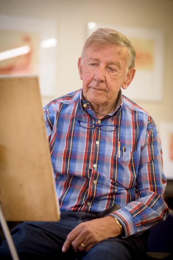 Frans Strik nam enthousiast deel aan de atelierroute.