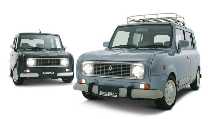 Tuningbedrijf Damd Styling Effect levert de Renault 4 ook als zelfbouwkit voor een Suzuki Alto Lapin.