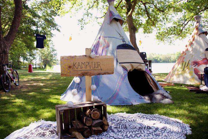 Het is weer eens wat anders: outdoor in festivalsfeer.