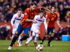 Sergio Ramos schiet Spanje langs Noorwegen
