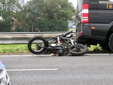 'Ongeluk met motorrijder' blijkt gevallen lading en zorgt voor vertraging op A6