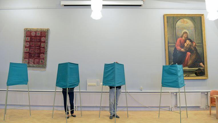 Stembureau in Zweden. Beeld AFP
