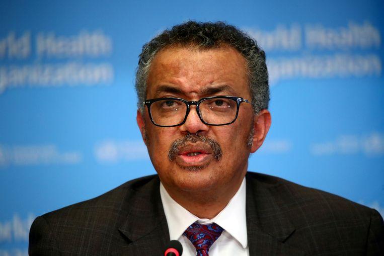Directeur-generaal van de WHO, Tedros Adhanom Ghebreyesus