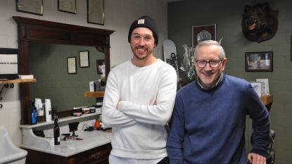 Vader en zoon openen samen barbershop