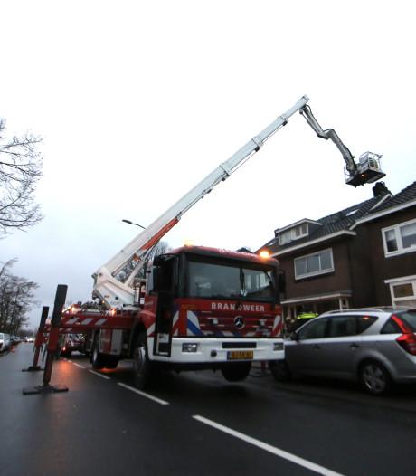 Zandstraat in Veenendaal korte tijd afgesloten door schoorsteenbrand