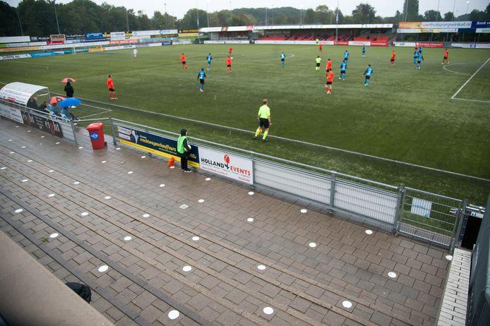 Sparta Nijkerk kwam afgelopen weekend op een leeg sportpark nog wel in actie. Zaterdag blijft de ploeg thuis.