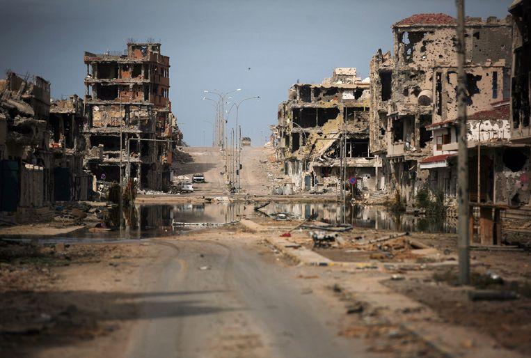 Beeld van de Libische kuststad Sirte uit 2011.