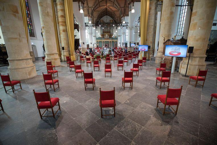 De Grote Kerk in Den Haag  waar dinsdag Prinsjesdag wordt gehouden.  Beeld Werry Crone