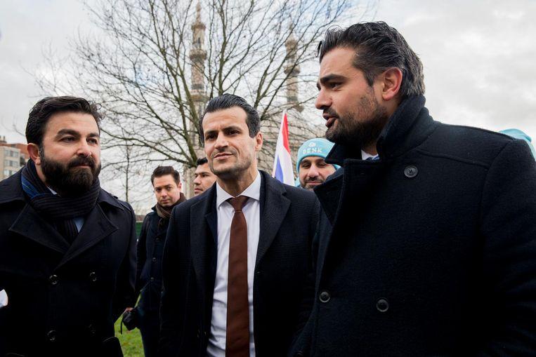 De grote mannen van Denk. De partij maakte vorige week bekend mee te doen aan de gemeenteraadsverkiezingen in Rotterdam. En maandag werd duidelijk dat een toenaderingspoging tussen Denk en Nida in Rotterdam is mislukt. Beeld anp