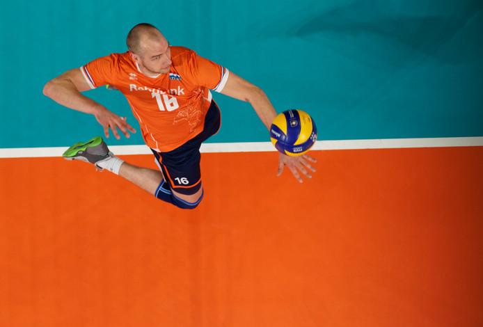 Wouter ter Maat in actie als international tijdens het EK afgelopen jaar in eigen land.