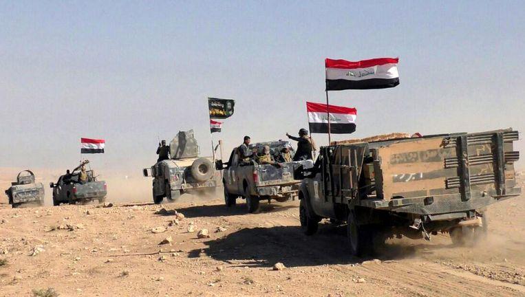 Het Iraakse leger vlakbij Hammam al-Alil