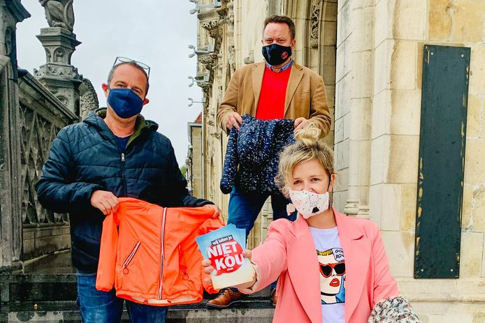 Initiatiefnemers Mario Vindevogel, Nico De Wulf en Dagmar Beernaert.