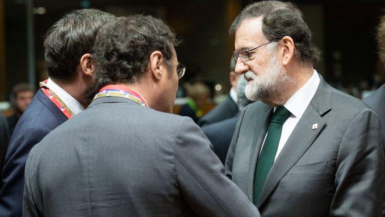 Rajoy, hier tijdens de Europese top in Brussel.