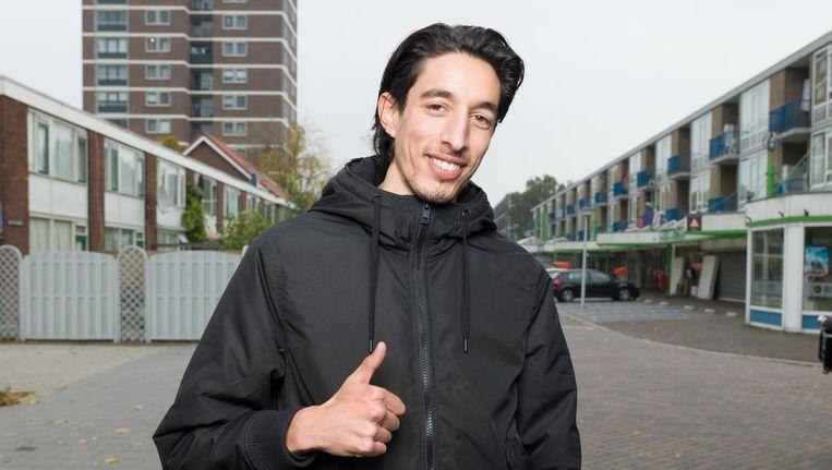 Beruchte treitervlogger Ismail Ilgun (19) in Zaandam. Door zijn vlogs in de Zaandamse wijk Poelenburg werd hij opgepakt voor opruiing. Beeld FTP/Ivo van der Bent