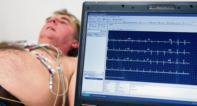 Met hartfilmpje wordt elektrische activiteit van de hartspier geregistreerd.
