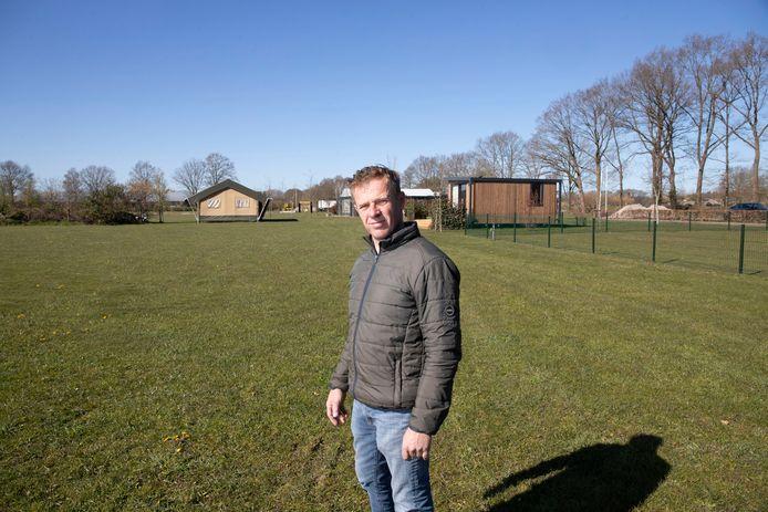 Eigenaar Wijnand van Triest van camping de Grebbelinie.