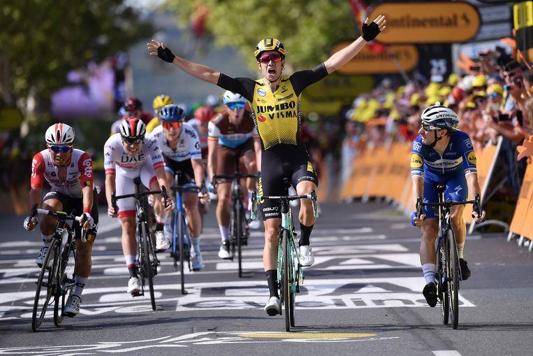 Wout van Aert wint in de Tour.