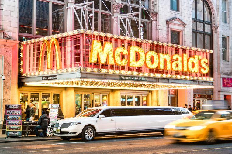 Het restaurant was volledig ingericht in Broadway-stijl.