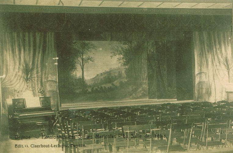 De turnzaal van Leieparel anno 1920.