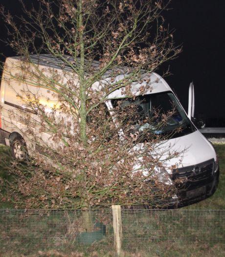 Automobilist verliest macht over het stuur en botst tegen boom in Almelo
